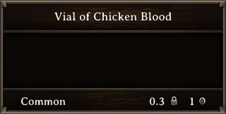 DOS Items Quest Vial of Chicken Blood Stats