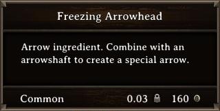 DOS Items CFT Freezing Arrowhead Stats