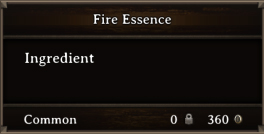 DOS Items CFT Fire Essence