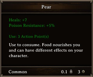 DOS Items Food Pear Stats