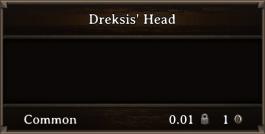 DOS Items Quest Dreksis' Head
