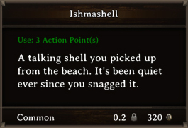 DOS Items Quest Ishmashell