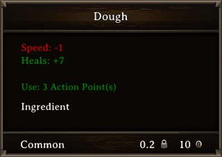 DOS Items Food Dough Stats