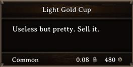 DOS Items Precious Light Gold Cup
