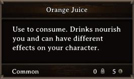 DOS Items FnD Orange Juice