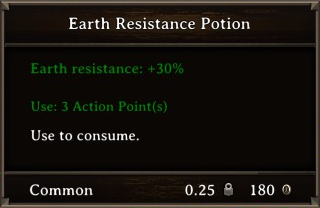 DOS Items Pots Earth Resistance Potion 1 Stats