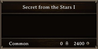 DOS Items Books Secret from the Stars I Stats