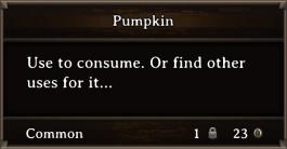 DOS Items FnD Pumpkin