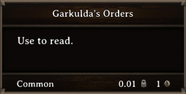 DOS Items Books Garkulda's Orders