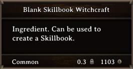 DOS Items Scrolls Blank Skillbook Witchcraft