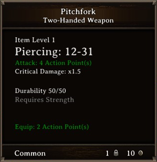 DOS Items Misc Pitchfork Stats