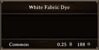 DOS Items CFT White Fabric Dye Stats