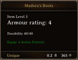 DOS Items Unique Madora's Boots