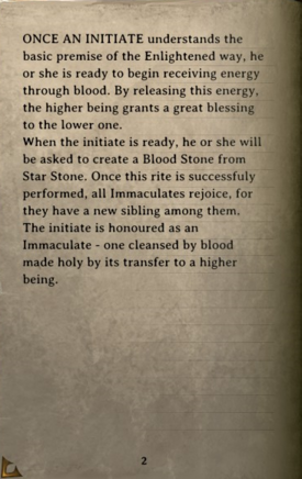 DOS Items Books Book of the Immaculates II Page2