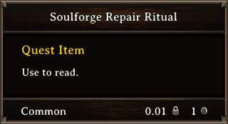DOS Items Quest Soulforge Repair Ritual Stats
