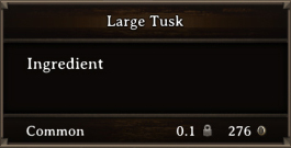 DOS Items CFT Large Tusk