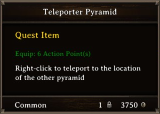 DOS Items Quest Teleporter Pyramid Stats