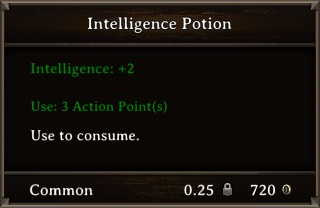 DOS Items Pots Intelligence Potion Stats