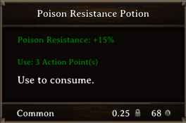 DOS Items Pots Poison Resistance Potion 1