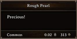 DOS Items Precious Rough Pearl
