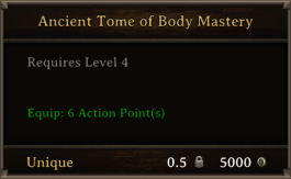 DOS Items Unique Ancient Tome Of Body Mastery