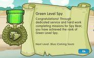 Badge spy level 3 green