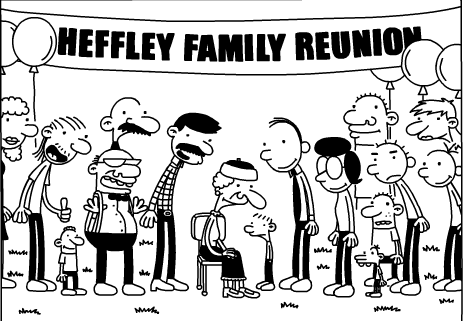 the reunion picture extended family coloring pages