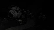 Spider Queen sleeping at night