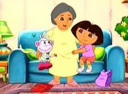 Grandma Giving Dora Star Pocket