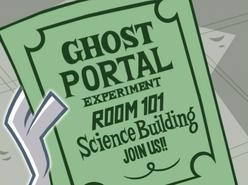 S02e16 Ghost Portal experiment flier