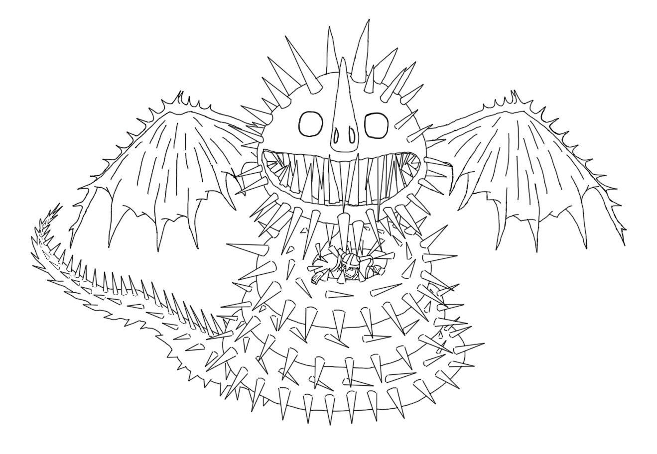 Bild sharksneeze loves his rider lines by shadowclawfc for How to train your dragon 2 coloring pages