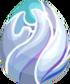 White Glass Egg