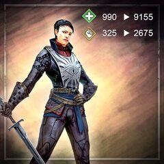 Promotional image of Cassandra in <i>Heroes of Dragon Age</i>