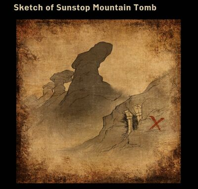 Sketch of Sunstop Mountain Tomb