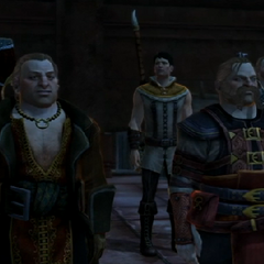 Varric, Bartrand, Carver and Anders in the Deep Roads