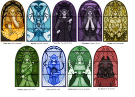 Elven Pantheon Stained Glass Murals