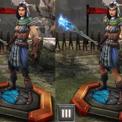 Tier progression of Grey Warden Bethany in <i><a href=