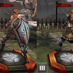 Tier progression of Aveline Vallen in <i>Heroes of Dragon Age</i>