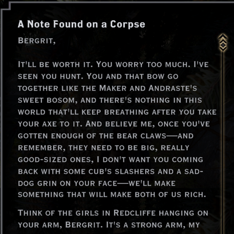 A Note Found on a Corpse