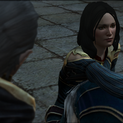 Encountering Bethany for the first time as a Circle Mage