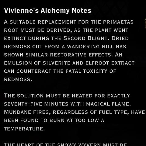 Vivienne's Alchemy Notes