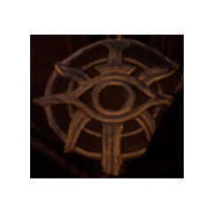 A badge bearing the crest of the Inquisition.