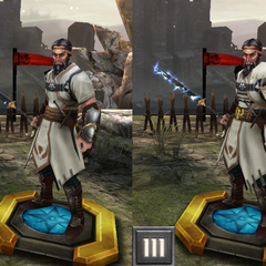 Tier evolution of a Tevinter Battlemage from <i>Heroes of Dragon Age</i>