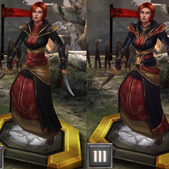 Tier progression of Lay sister Leliana in <i>Heroes of Dragon Age</i>