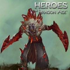 Artwork of a Red Templar Shadow in Heroes of Dragon Age