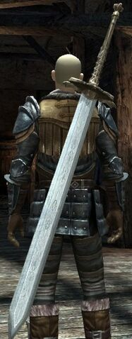 File:DA2 Fereldan Greatsword on Hawke w Fereldan Field Boots Armor Gloves.jpg