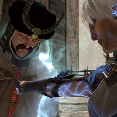 Fenris uses his special talent to interrogate Danzig.