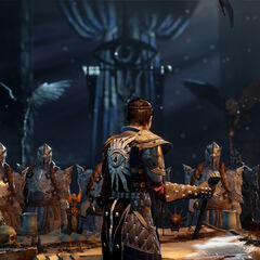 Cassandra Pentaghast and soldiers of the Inquisition
