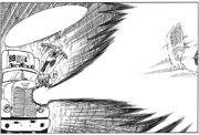 Vegeta fires a Big Bang Attack at -18