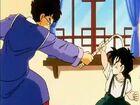 Gohan dodging Mr.Shu's whip